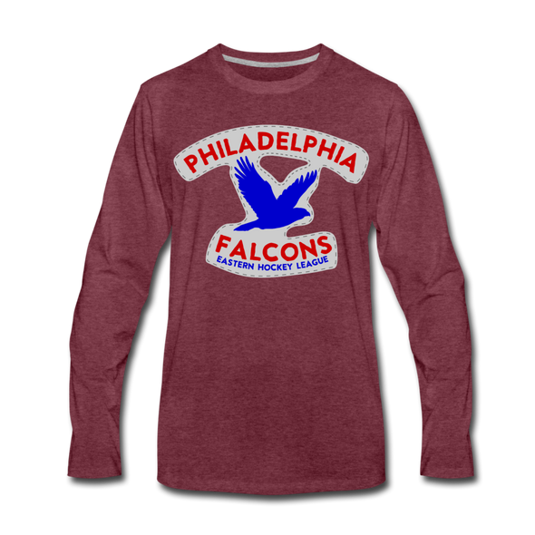 Philadelphia Falcons Long Sleeve T-Shirt - heather burgundy