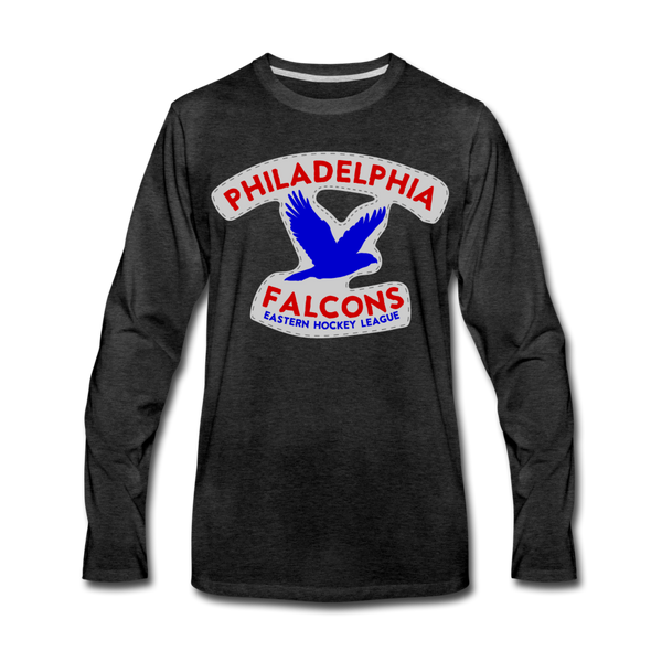 Philadelphia Falcons Long Sleeve T-Shirt - charcoal gray