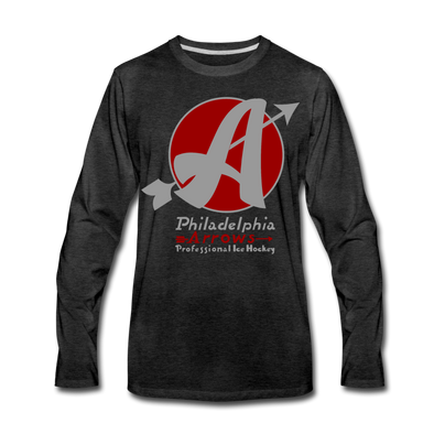 Philadelphia Arrows Long Sleeve T-Shirt - charcoal gray