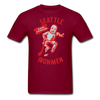 Seattle Ironmen T-Shirt - burgundy