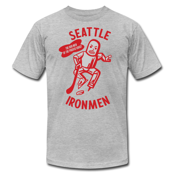 Seattle Ironmen T-Shirt (Premium) - heather gray