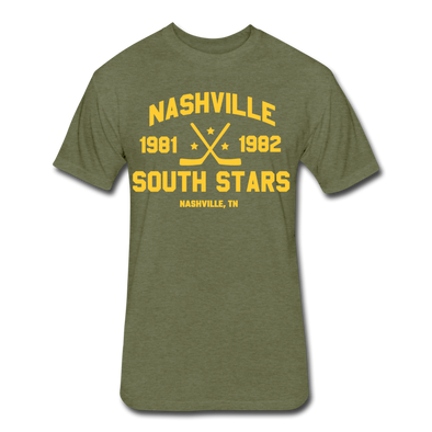 Nashville South Stars Dated T-Shirt (Premium) - heather military green