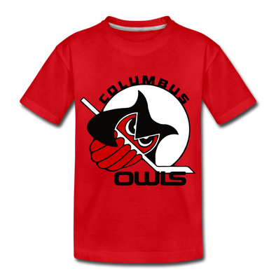 Columbus Owls Kid's T-Shirt - red