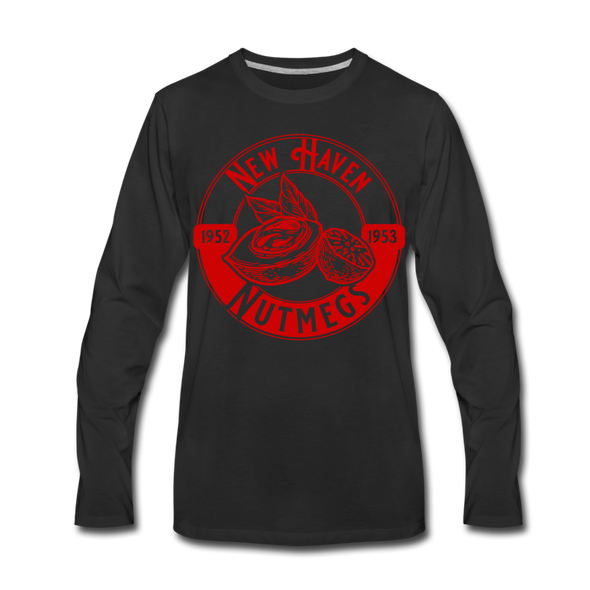 New Haven Nutmegs Long Sleeve T-Shirt - black