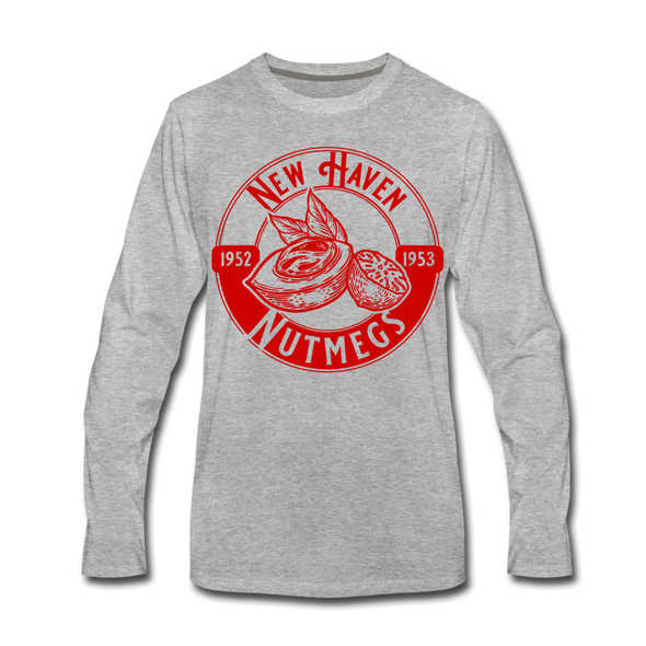 New Haven Nutmegs Long Sleeve T-Shirt - heather gray