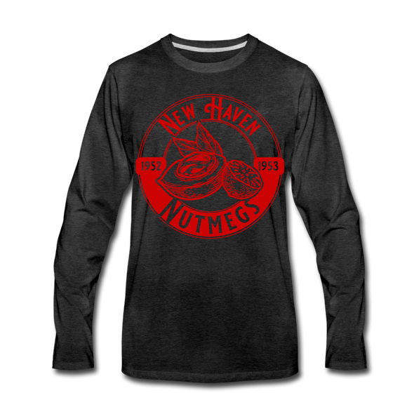 New Haven Nutmegs Long Sleeve T-Shirt - charcoal gray