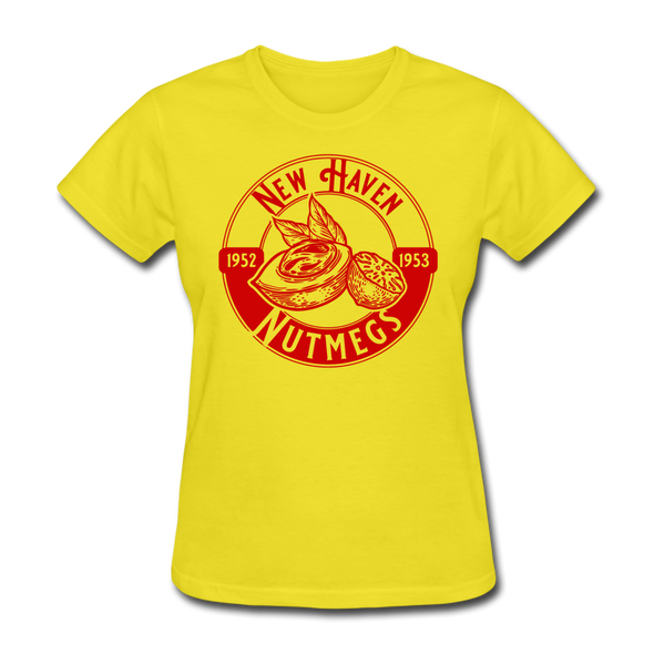 New Haven Nutmegs Women's T-Shirt - yellow