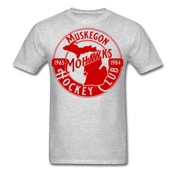 Muskegon Mohawks T-Shirt - heather gray