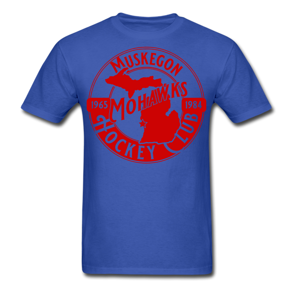 Muskegon Mohawks T-Shirt - royal blue