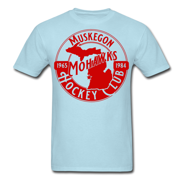 Muskegon Mohawks T-Shirt - powder blue