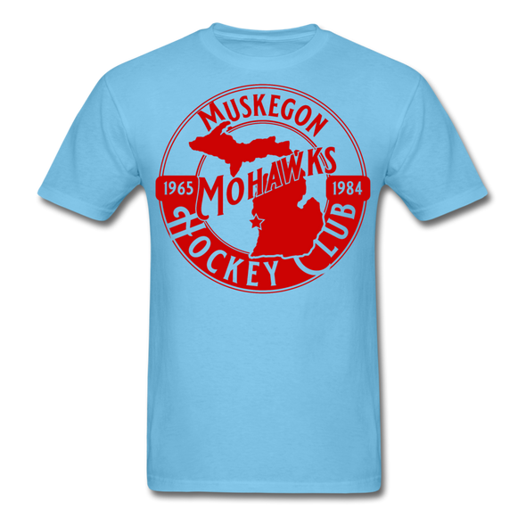 Muskegon Mohawks T-Shirt - aquatic blue