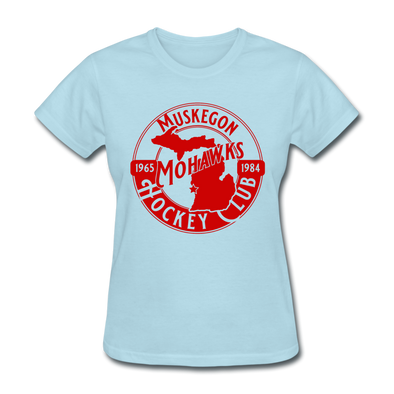 Muskegon Mohawks Women's T-Shirt - powder blue