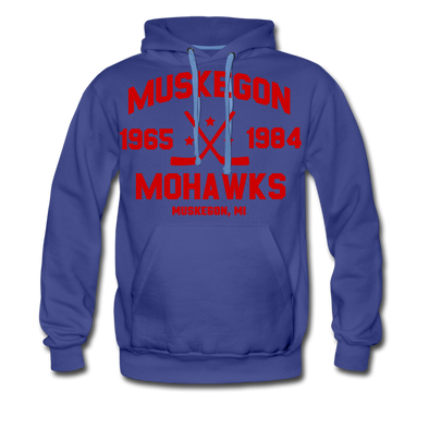 Muskegon Mohawks Dated Hoodie (Premium) - royalblue
