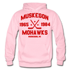 Muskegon Mohawks Dated Hoodie - light pink