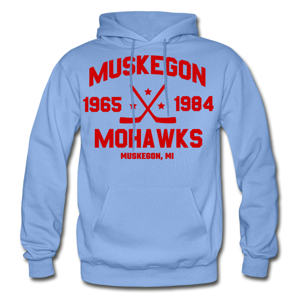 Muskegon Mohawks Dated Hoodie - carolina blue