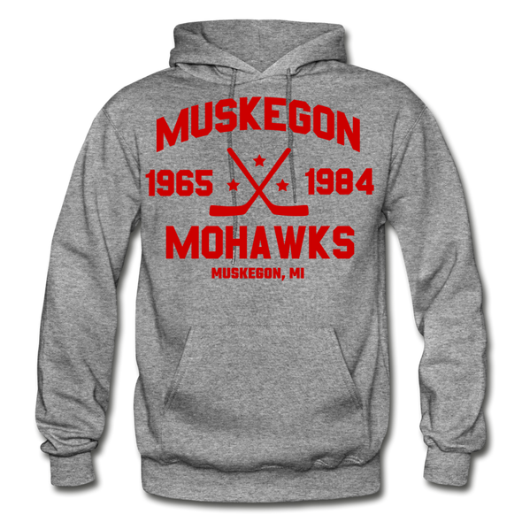 Muskegon Mohawks Dated Hoodie - graphite heather