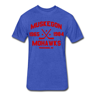 Muskegon Mohawks Dated T-Shirt (Premium) - heather royal