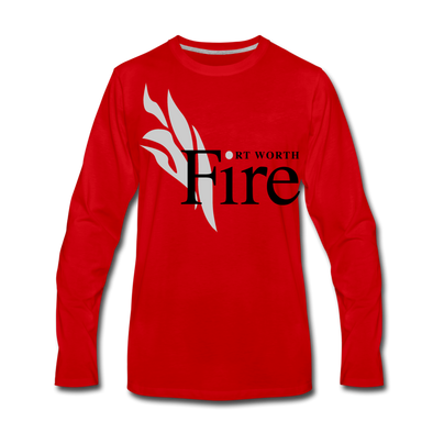 Fort Worth Fire Long Sleeve T-Shirt - red