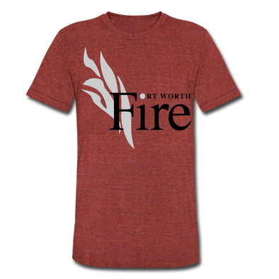 Fort Worth Fire Red T-Shirt (Tri-Blend Super Light) - heather cranberry