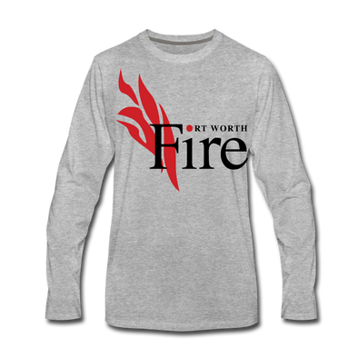 Fort Worth Fire Long Sleeve T-Shirt - heather gray