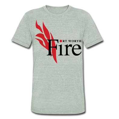Fort Worth Fire T-Shirt (Tri-Blend Super Light) - heather gray