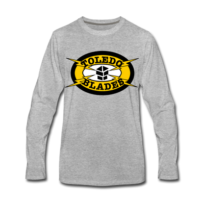 Toledo Blades Long Sleeve T-Shirt - heather gray