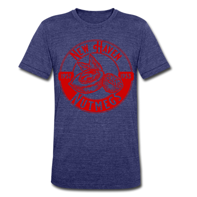 New Haven Nutmegs T-Shirt (Premium Tri-Blend Super Light) - heather indigo