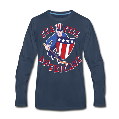 Seattle Americans Long Sleeve T-Shirt - navy