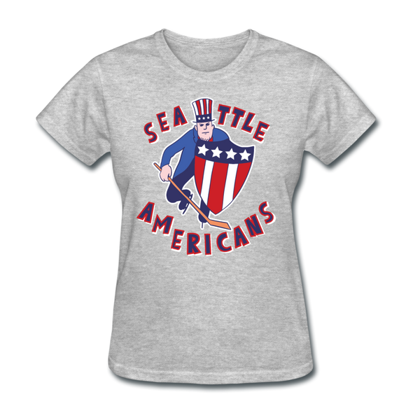 Seattle Americans Women's T-Shirt - heather gray