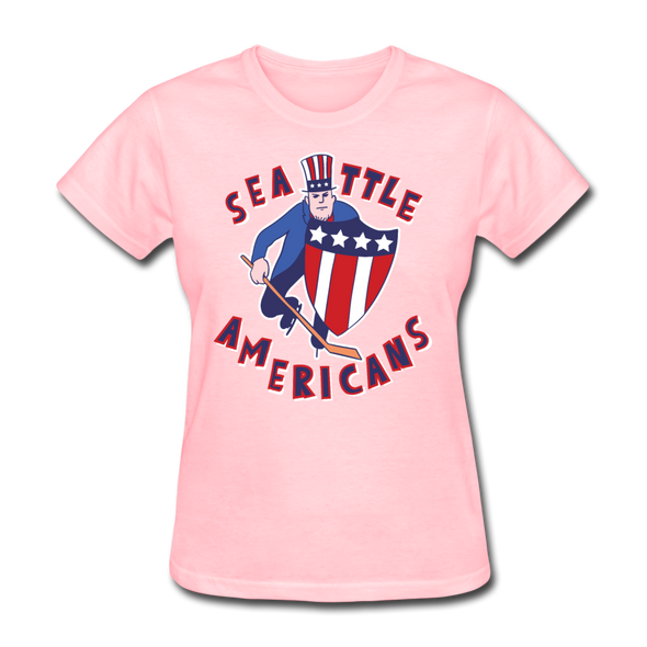 Seattle Americans Women's T-Shirt - pink