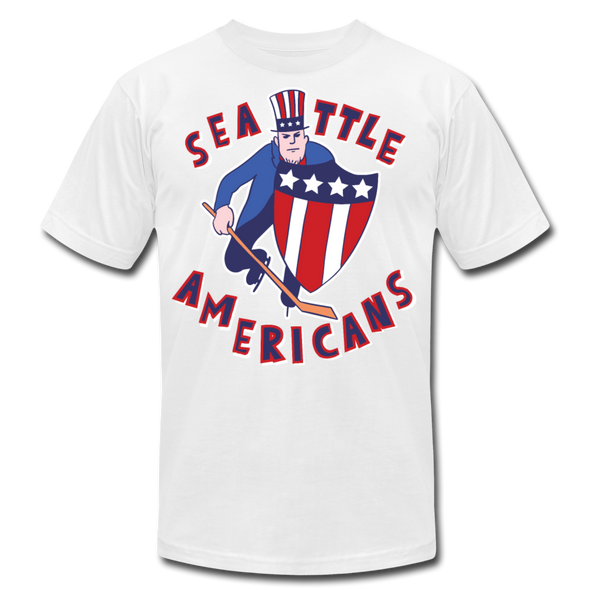 Seattle Americans T-Shirt (Premium Lightweight) - white