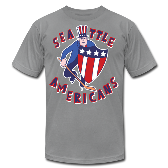 Seattle Americans T-Shirt (Premium Lightweight) - slate
