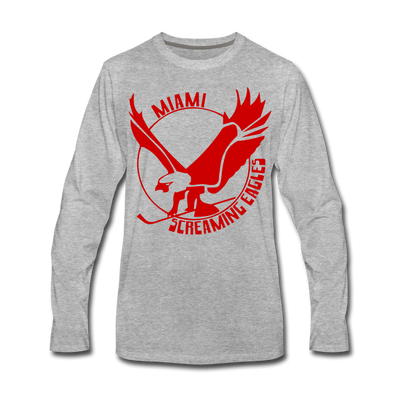 Miami Screaming Eagles Long Sleeve T-Shirt - heather gray