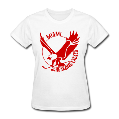 Miami Screaming Eagles Women's T-Shirt - white