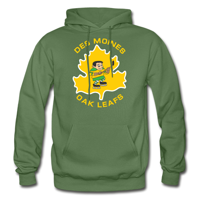 Des Moines Oak Leafs Hoodie - military green