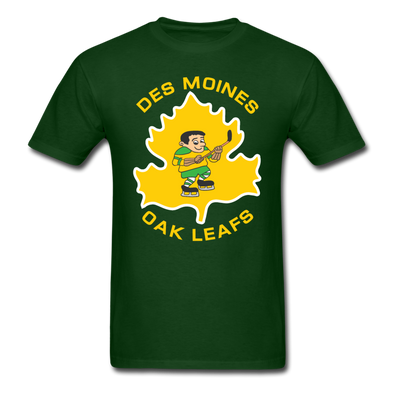 Des Moines Oak Leafs T-Shirt - forest green
