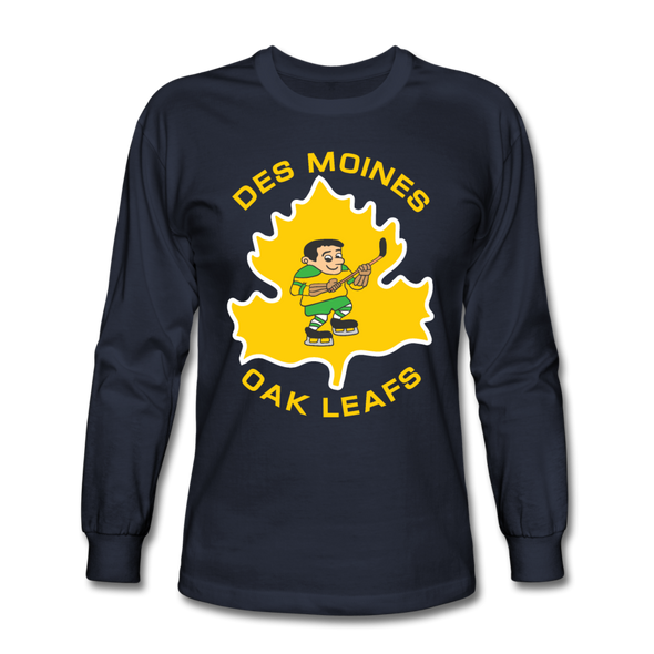 Des Moines Oak Leafs Long Sleeve T-Shirt - navy