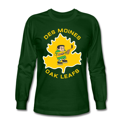 Des Moines Oak Leafs Long Sleeve T-Shirt - forest green