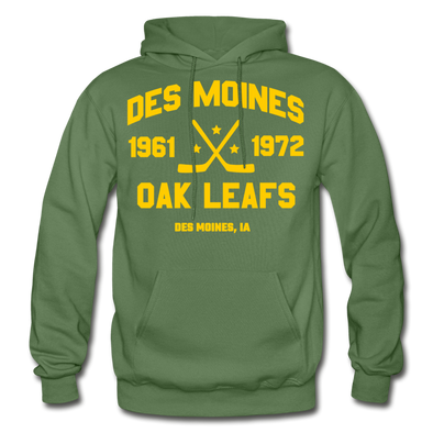 Des Moines Oak Leafs Double Sided Hoodie - military green