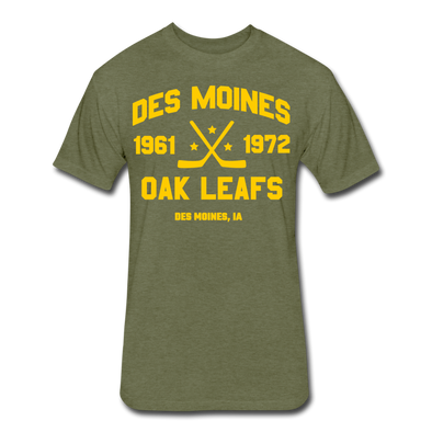 Des Moines Oak Leafs Dated T-Shirt - heather military green