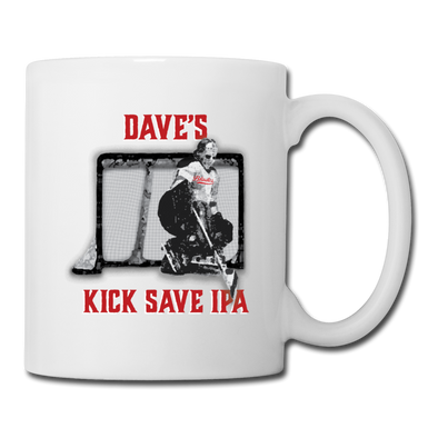 Dave's Kick Save IPA Mug - white