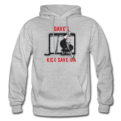 Dave's Kick Save IPA Hoodie - heather gray