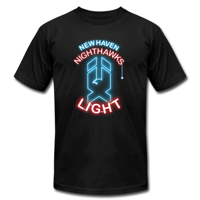 New Haven Nighthawks Light T-Shirt (Premium Lightweight) - black