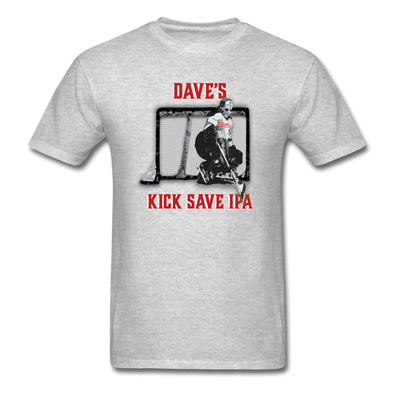 Dave's Kick Save IPA T-Shirt - heather gray