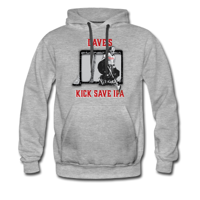 Dave's Kick Save IPA Hoodie (Premium) - heather gray
