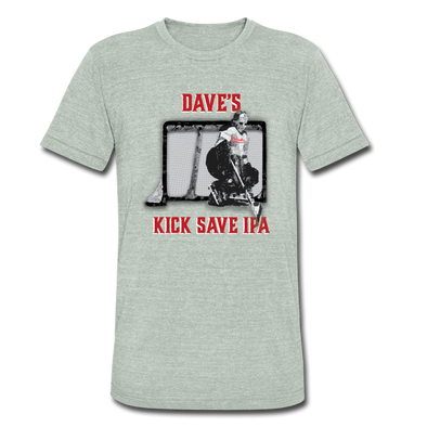 Dave's Kick Save IPA T-Shirt (Tri-Blend Super Light) - heather gray