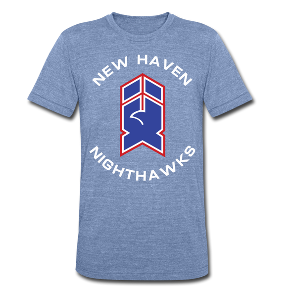 New Haven Nighthawks 1980s T-Shirt (Tri-Blend Super Light) - heather Blue