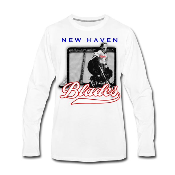 New Haven Blades Goalie Long Sleeve T-Shirt - white