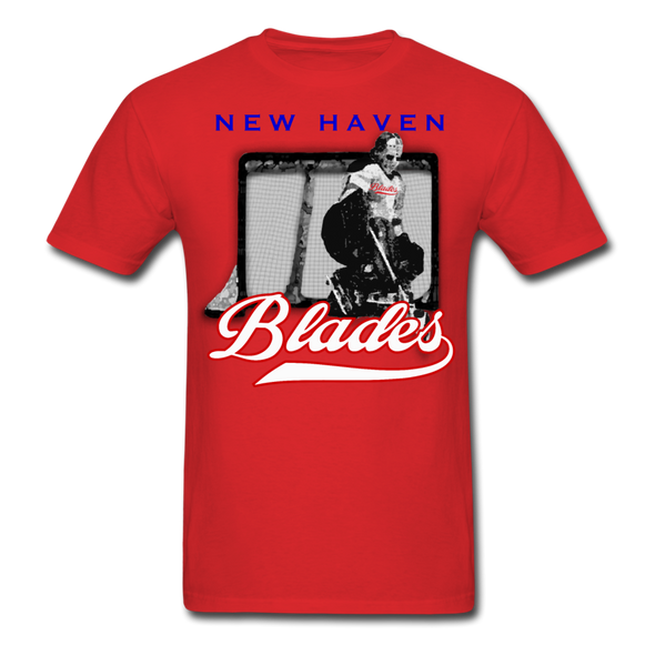 New Haven Blades Goalie T-Shirt - red