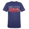 New Haven Blades Blue T-Shirt (Tri-Blend Super Light) - heather indigo